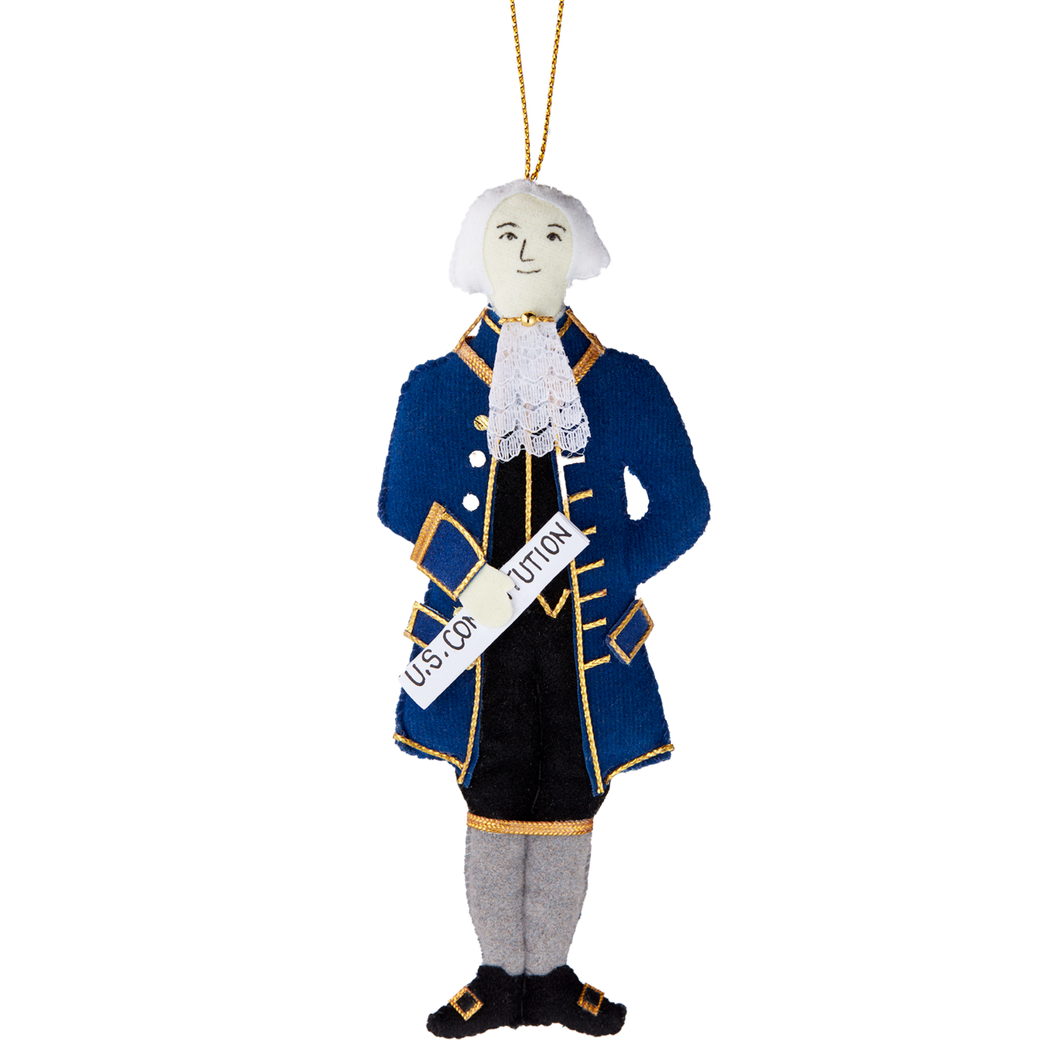 James Madison Handmade Felt Ornament