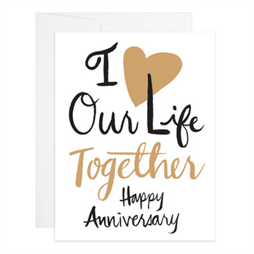 Life Together Anniversary Card, 9th Letterpress
