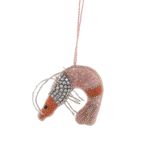 Beaded Shrimp Ornament