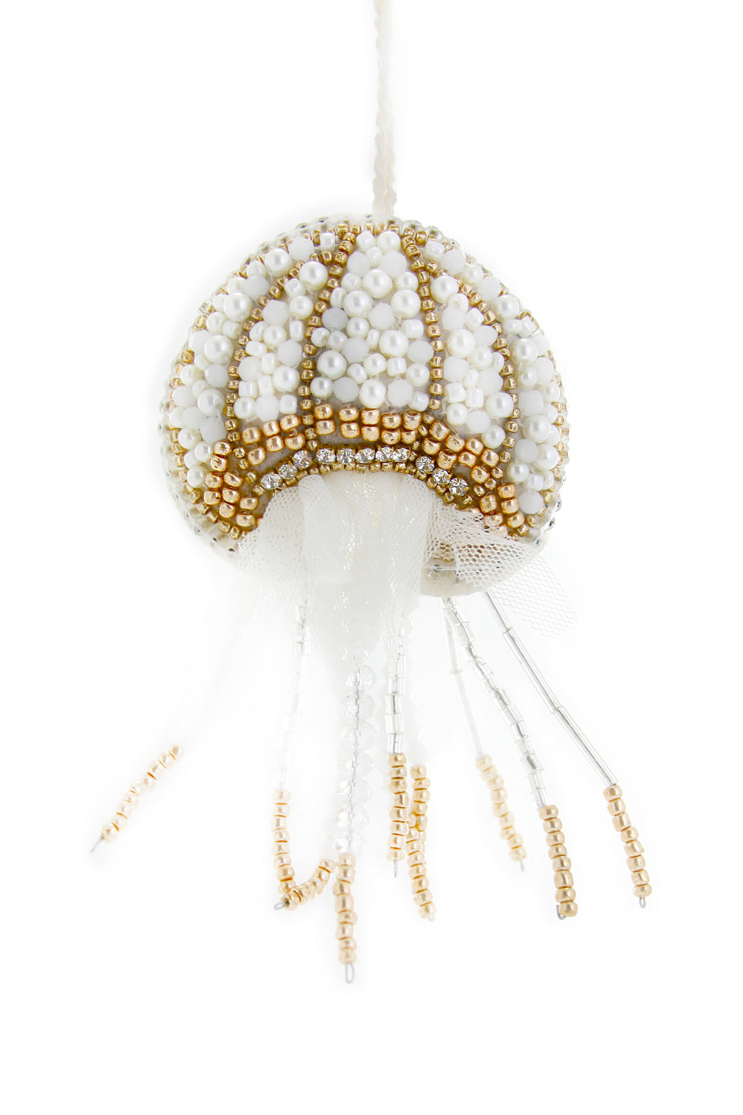 Tinsel and Pearl Jellyfish Ornament