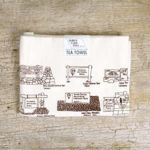 Tea Towel Collection, Girls Can Tell