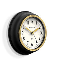 Load image into Gallery viewer, Classic Kitchen Wall Clock, Black/Gold/Brass