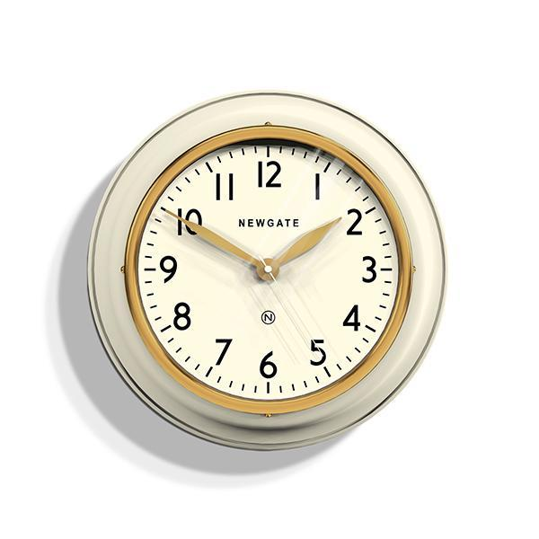 Classic Kitchen Wall Clock Cookhouse Wall Clock, Linen White/Cream