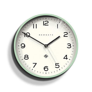 Echo Number Three Modern Wall Clock, Mint Green