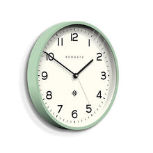 Load image into Gallery viewer, Echo Number Three Modern Wall Clock, Mint Green
