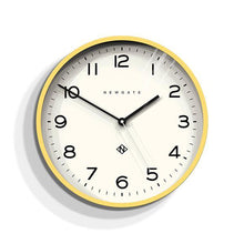 Load image into Gallery viewer, Echo Number Three Modern Wall Clock, Yellow