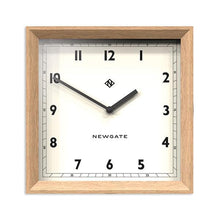 Load image into Gallery viewer, Old Joe Square Wood Wall Clock, Modern Light Oak