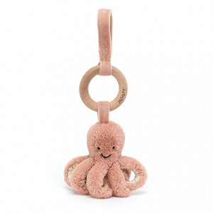Odell Octopus Wooden Ring Toy