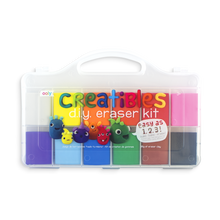 Load image into Gallery viewer, A kit of diy erasers that includes 12 colors that can be molded into different shaped erasers