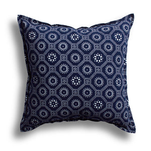 Indigo Honeycomb India Pillow
