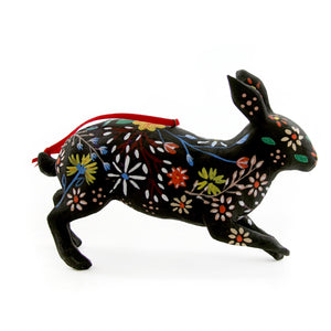 Floral Rabbit Ornament