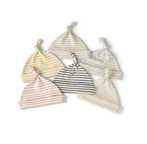 Stripes Away Knot Hats, 0-6 Months