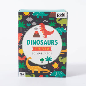 Petit Collage Dinosaurs Trivia Quiz Cards