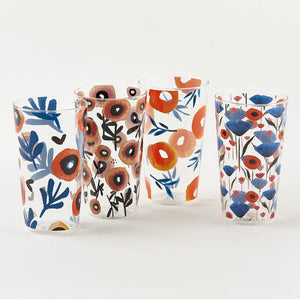 Poppy Tumblers, Set of 4