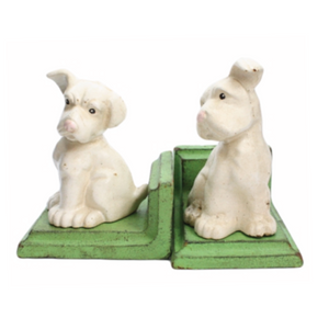 Puppy Cast Iron Bookends