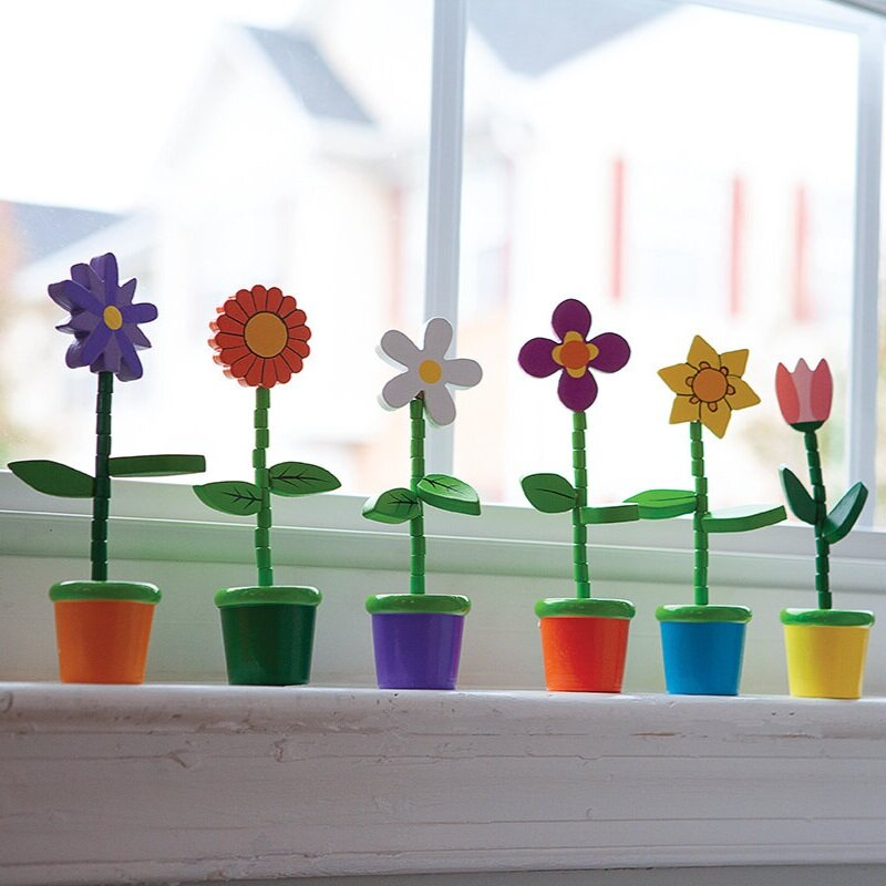 Push Puppet Flowers