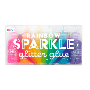 Rainbow Sparkle Glitter Glue Set, Ooly