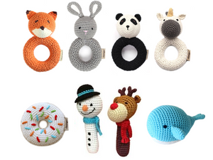 Hand Crocheted Rattles