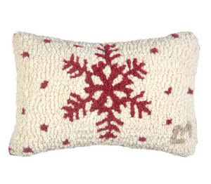 Red Flake Mini Pillow