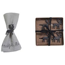 Load image into Gallery viewer, Reindeer Napkin Rings (Set of 4)