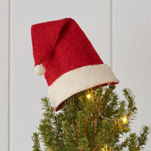 Load image into Gallery viewer, Santa Hat Tree Topper