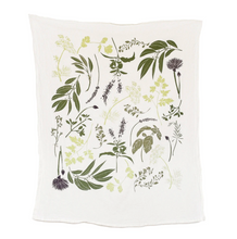 Load image into Gallery viewer, Herb Garden Dish Towel, June & December