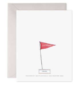 Birthday Flag Card, E. Frances Paper