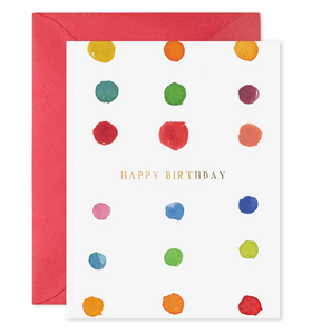 Birthday Dots Card, E. Frances Paper