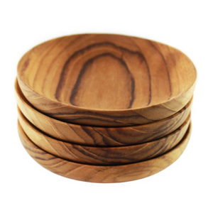 Teak Pinch Bowls, Set of 4