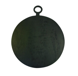 Black Mango Wood Round Board