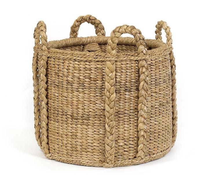 Seagrass Sweater Weave Round Basket