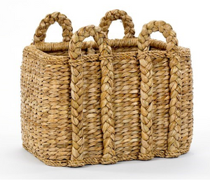 Seagrass Sweater Weave Rectangular Basket