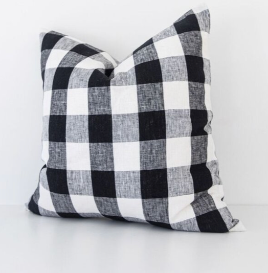 Buffalo Check Linen Pillow