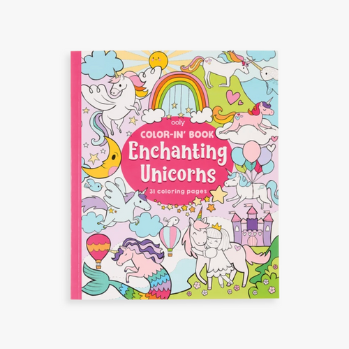 Color-in' Book: Enchanting Unicorns, Ooly