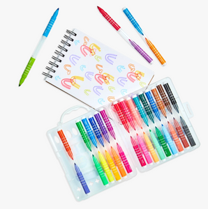 Double Up! 2-in-1 Mini Markers (Set of 36), Ooly