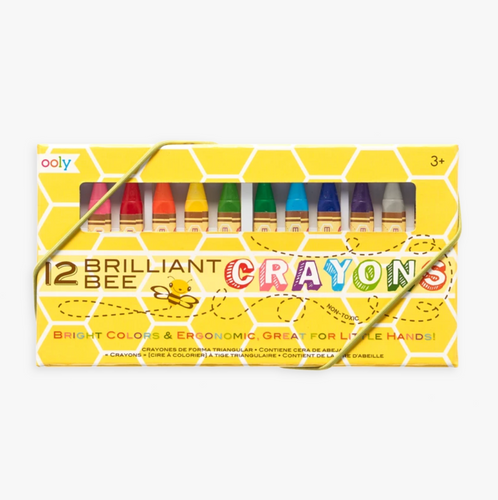 Brilliant Bee Crayons (Set of 12), Ooly