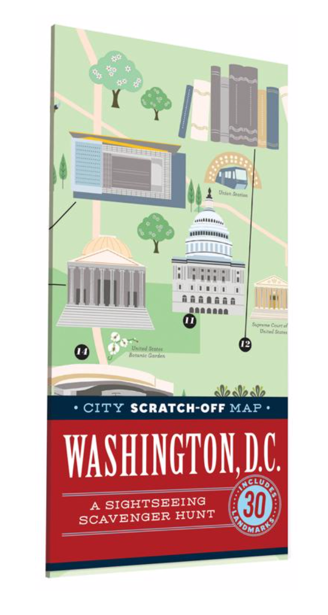 City Scratch Off Map: Washington, DC