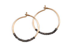 Load image into Gallery viewer, Oxidized Bead Hoops