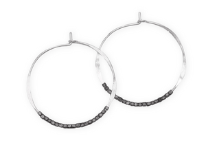 Oxidized Bead Hoops