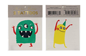 Monster Tattoos, Set of Two
