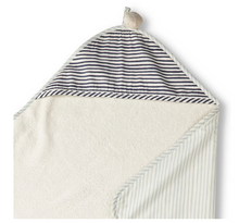 Load image into Gallery viewer, Hooded Towel, Sea Stripes