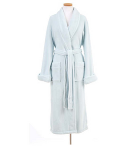 Sheepy Fleece Robe, Chalk Blue