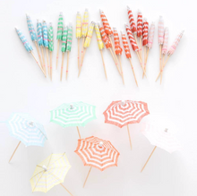 Load image into Gallery viewer, Festive Cocktail Umbrellas