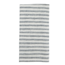 Load image into Gallery viewer, Boat Stripe Linen Towel, White & Blue