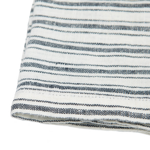 Boat Stripe Linen Towel, White & Blue