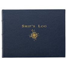 Load image into Gallery viewer, Ship's Log, Traditional Blue Leather