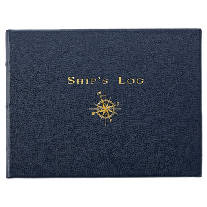 Ship's Log, Traditional Blue Leather