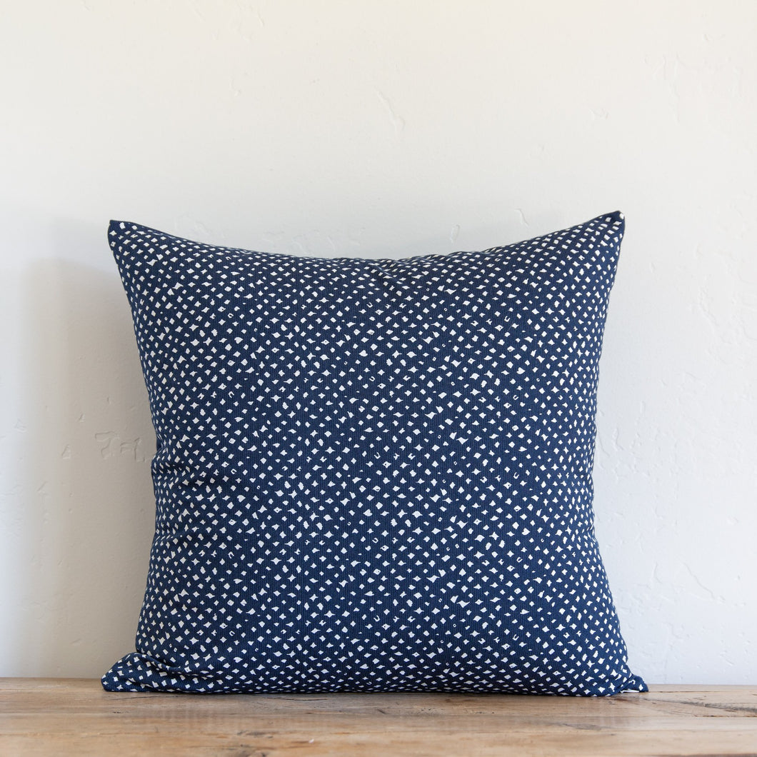 Sugarfeather Outdoor Smith Pillow, Navy
