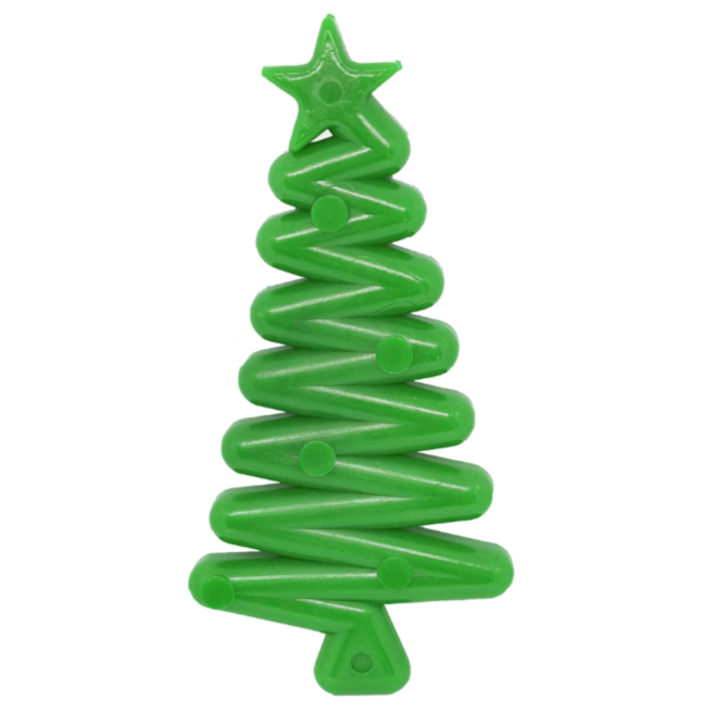 Nylon Green Christmas Tree Chew Toy