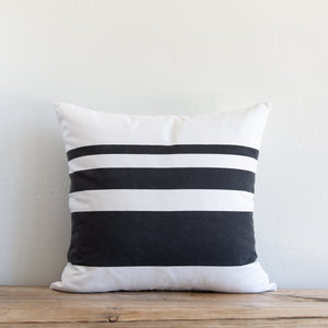 Sugarfeather Sunset Stripe Charcoal Outdoor Pillow
